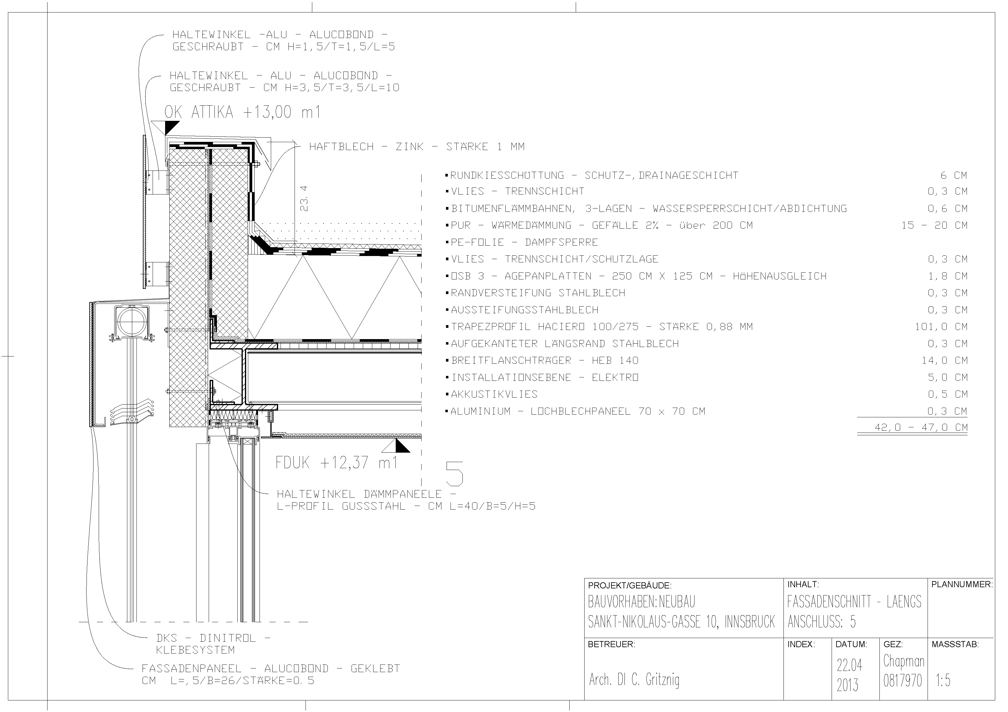 Detailplanung – Längsschnitt