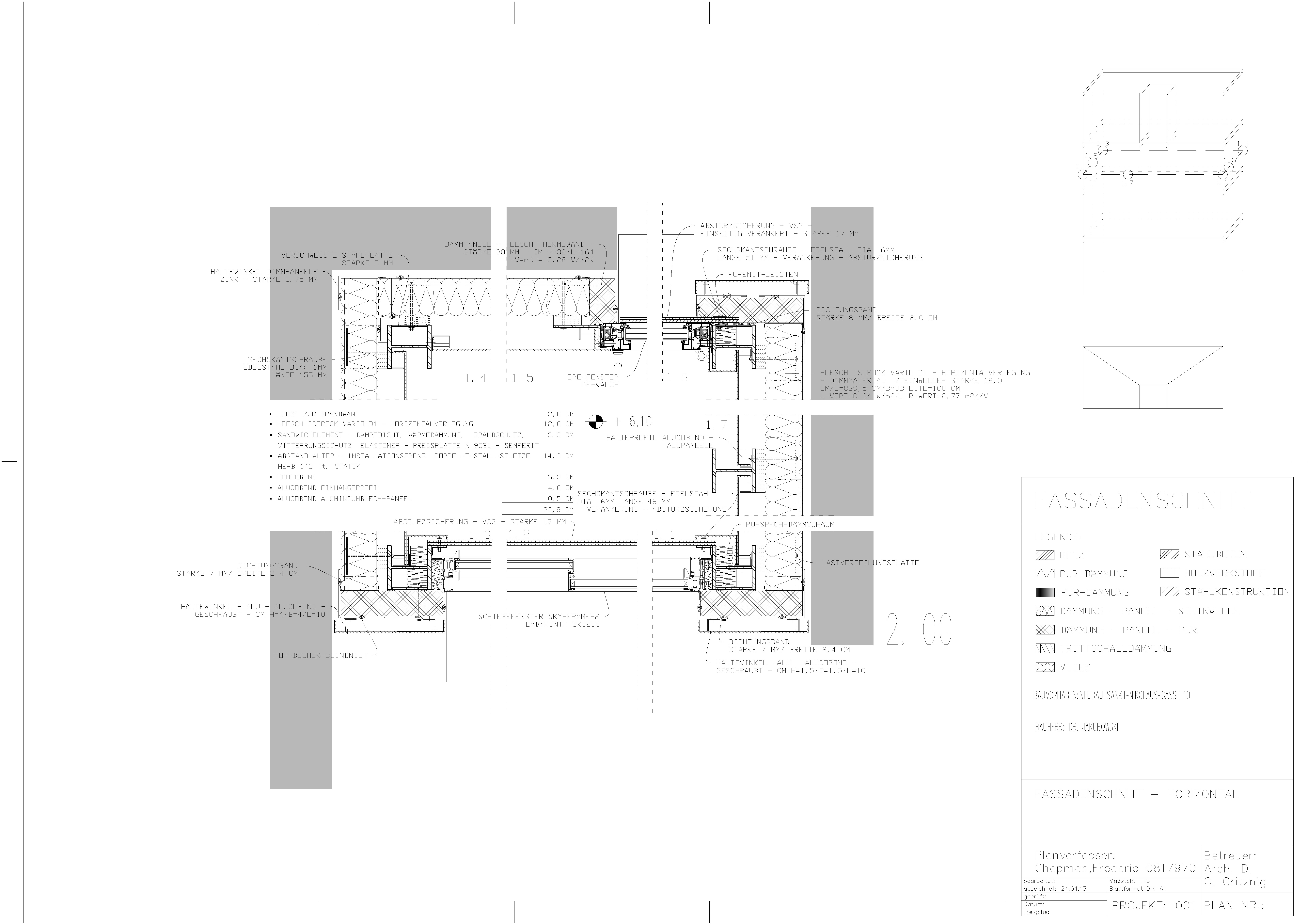 Detailplanung – Horizontalschnitt